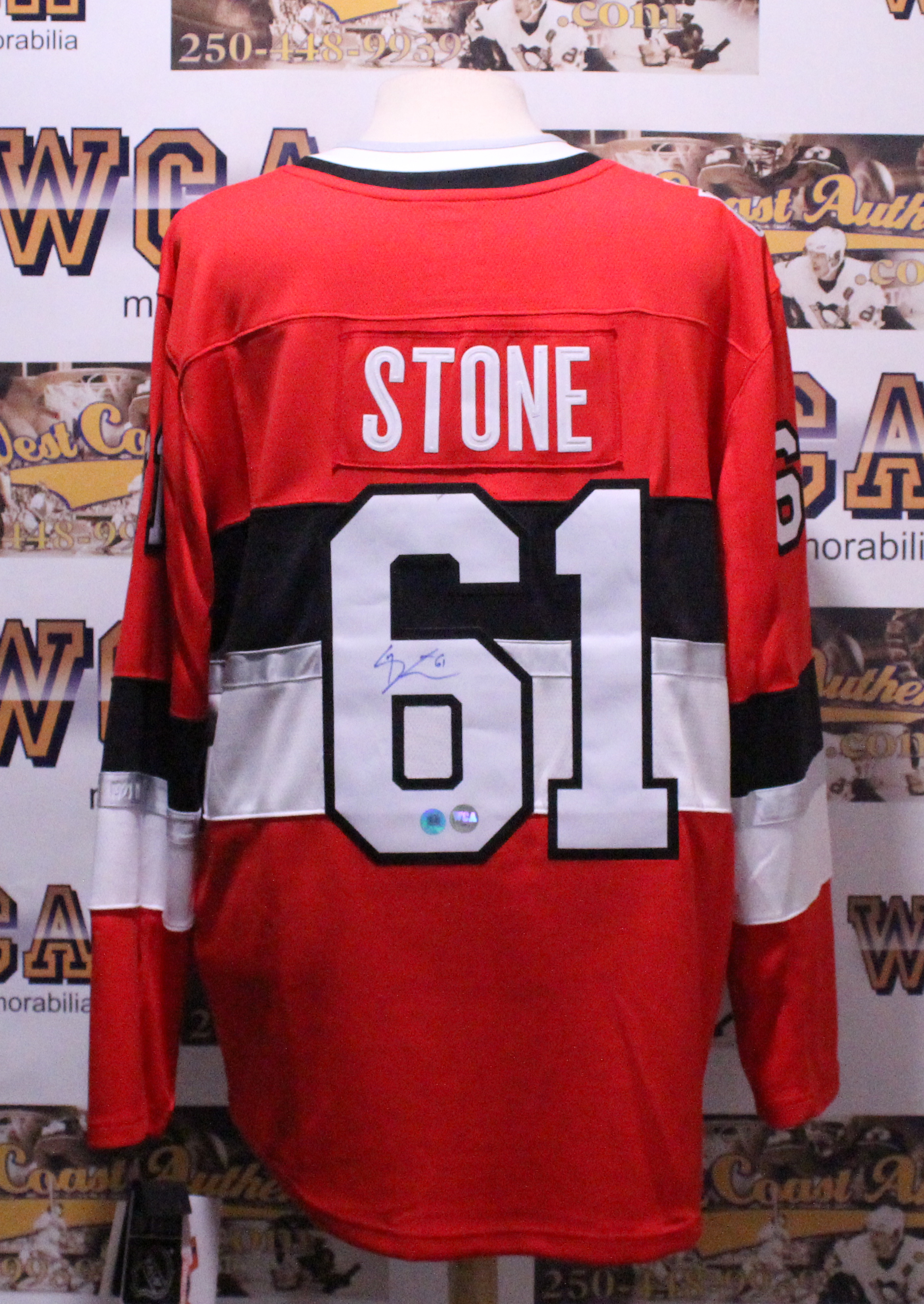 uk availability 3776c b3018 Mark Stone Autographed Ottawa Senators Jersey