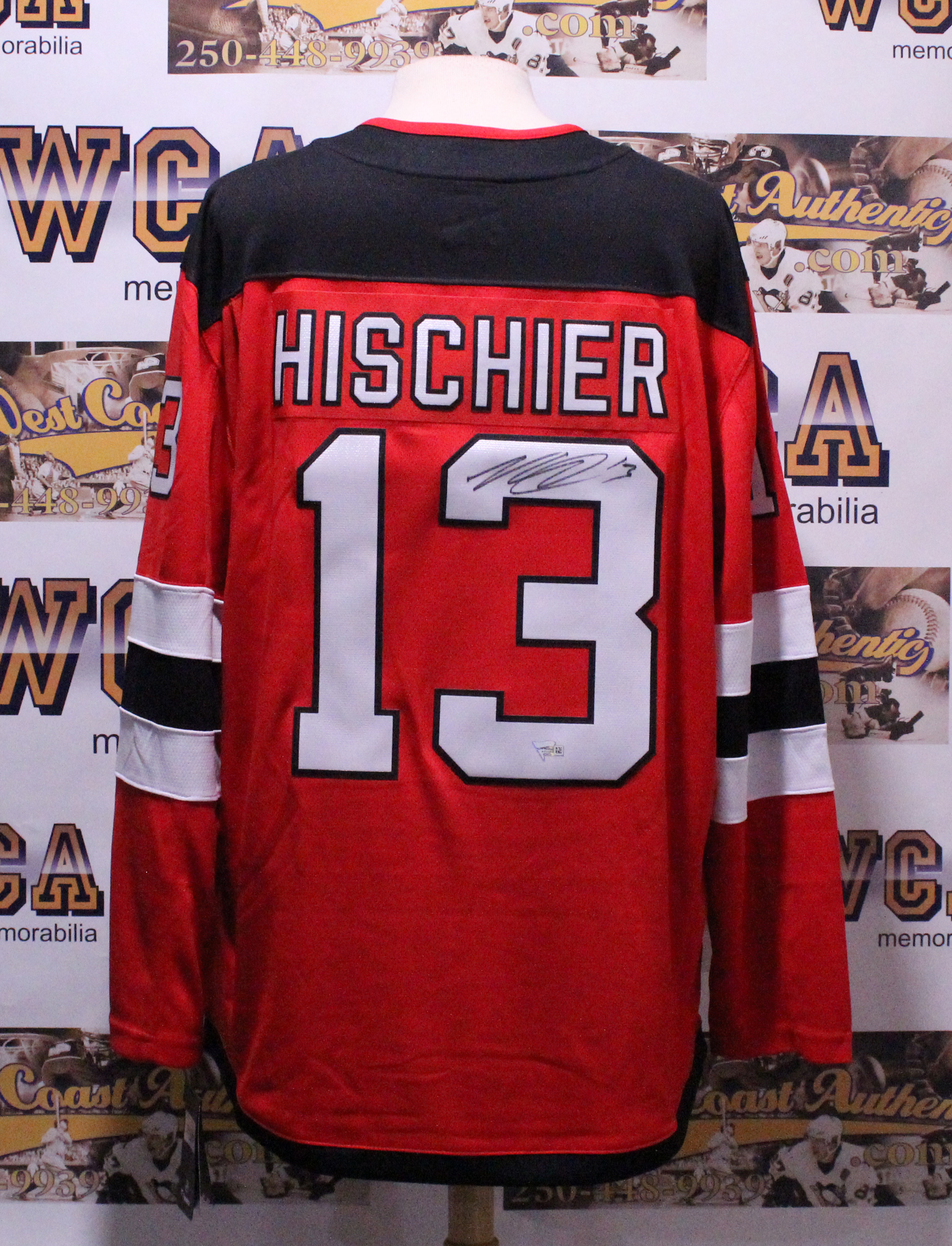 new style 706c6 82721 Nico Hischier Autographed New Jersey Devils Jersey