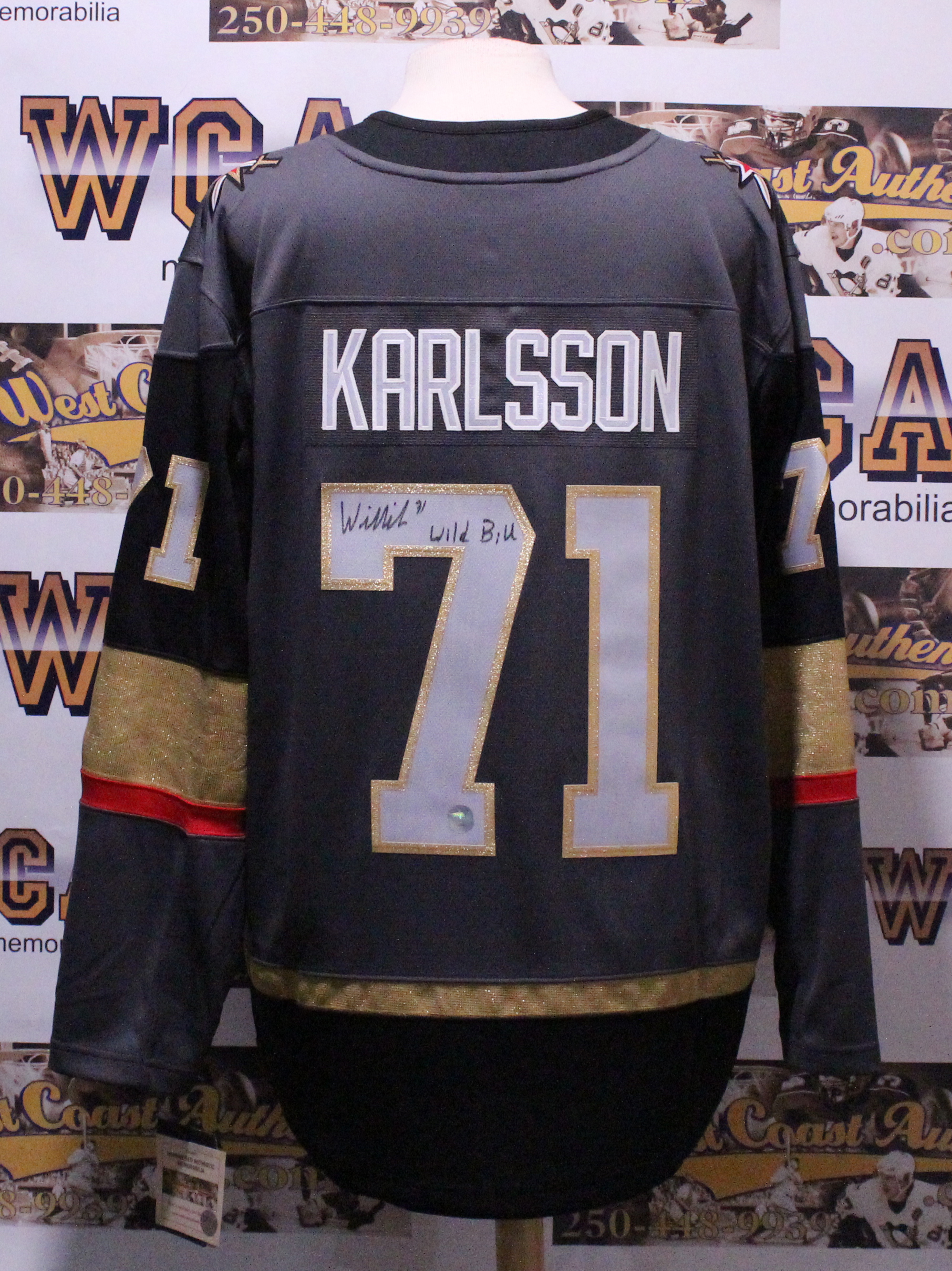reputable site 00e41 6ce57 William Karlsson Autographed Vegas Golden Knights Jersey