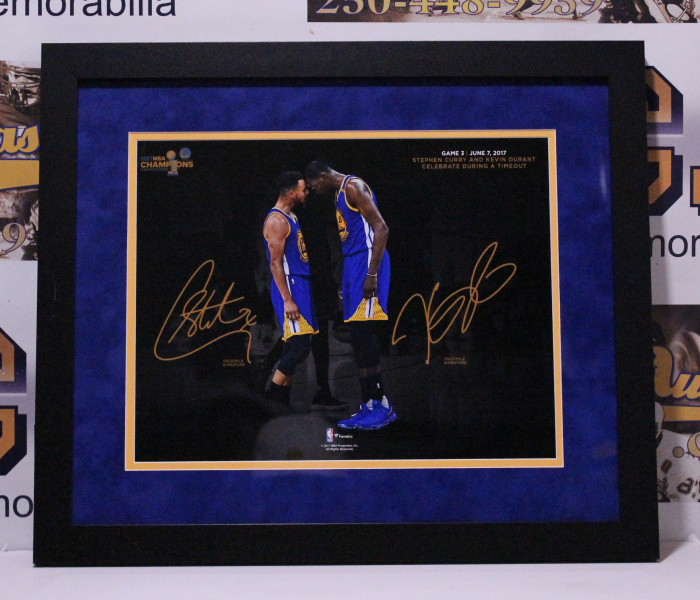 West_Coast_Authentic_Kevin_Durant_Seth_Curry_Unsigned_Photo
